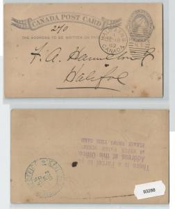 93288 Ganzsachen AK Kanada Halifax 1882
