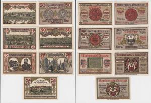 3 x 50, 4 x 75 Pfennig Banknoten Notgeld Stadt Lennep 15.7.1921 OVP (133434)
