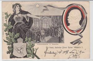 92365 Patriotika Präge Ak Ein treuer, deutscher Diener Kaiser Wilhelm I, 1899