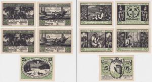 25, 4 x 50 Pfennig Banknoten Notgeld Gemeinde Menteroda 1.11.1921 OVP (133450)