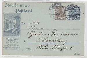 87897 Stahlkammer Ganzsachen Postkarte Friedrich Freise Magdeburg 1907