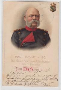 64768 Ak 75.Geburtstag des Herzog von Sachsen Altenburg 1826-1901