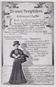 82735 Ak Die neuen Postgebühren Einführung am 1.August 1916