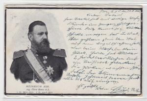 92955 Ak Heinrich XXII regierender Fürst Reuss ältere Linie gest.19.April 1902