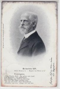89188 Ak Heinrich XIV Fürst Reuss jüngere Linie Regent von Reuss ä.L. 1902