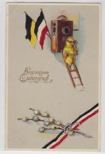 53510 Herzinnigen Ostergruß Ak Küken auf Leiter telefoniert um 1915