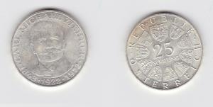 25 Schilling Silber Münze Österreich 1972 Carl Michael Zierer 1843-1922 (133437)