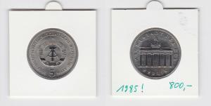 DDR Gedenk Münzen 5 Mark Brandenburger Tor 1985 (133668)