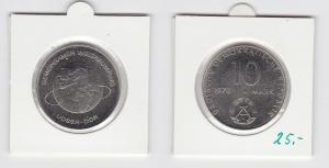 DDR Gedenk Münze 10 Mark gemeinsamer Weltraumflug DDR UdSSR 1978 (133488)
