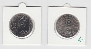 DDR Gedenk Münze 10 Mark 100.Jahre 1.Mai Feiertag 1990 (133627)