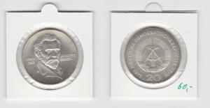 DDR Gedenk Münze 20 Mark August Bebel 1973 Silber (133481)