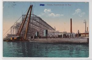 94418 Ak Stettin Vulcan Torpedoboote im Bau 1912