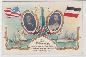 92825 Ak Zur Erinnerung an die Amerikafahrt S.K.H.des Prinzen Heinrich 1902