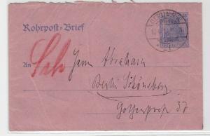 93653 Ganzsachen Rohrpost Brief Berlin Schöneberg 1919