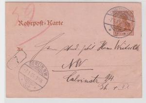 85000 Ganzsachen Rohrpost Karte Berlin Charlottenburg 1905