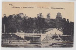 79946 Feldpost Ak Wilna Vilnius Schlossberg und Antokolstrasse 1917