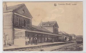 93300 Feldpost Ak Comines (Nord) la Gare Bahnhof 1916