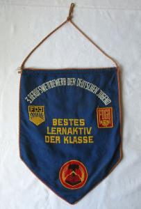 DDR Wimpel 3. Berufswettbewerb der deutschen Jugend Bestes Lernaktiv (129566)