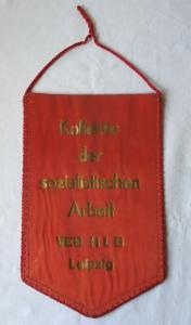DDR Wimpel Kollektiv der sozialistischen Arbeit VEB H L B Leipzig (123863)