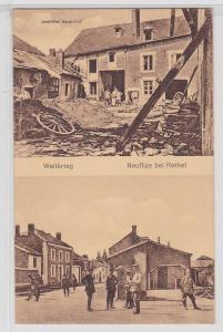 78587 Feldpost Ak Neuflize bei Rethel zerstörter Bauernhof 1916