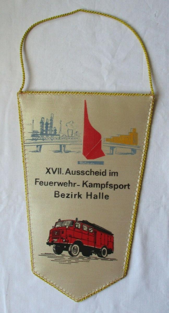 DDR Wimpel XVII. Ausscheid im Feuerwehr-Kampfsport Bezirk Halle Köthen (126331) 0