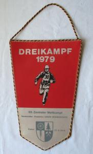 DDR Wimpel Dreikampf 1979 - XII. Zentraler Wettkampf Freital (127916)