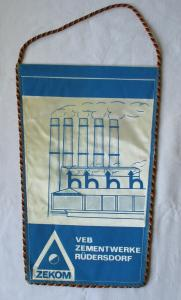 DDR Wimpel VEB Zementwerke Rüdersdorf 100 Jahre ZEKOM 1895 - 1995 (126069)