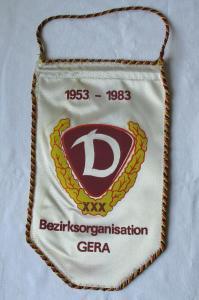 DDR Wimpel 30 Jahre Dynamo Bezirksorganisation Gera 1953 - 1983 (124629)