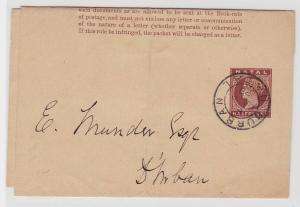 93936 seltener Ganzsachen Brief Natal Südafrika Durban 1888