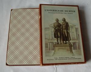 Quartett Unsterbliche Dichter VEB Altenburger Spielkartenfabrik 1954 (120708)