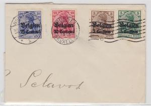 93810 seltener Brief Überdruck deutsche Besetzung Belgiens 1.Weltkrieg