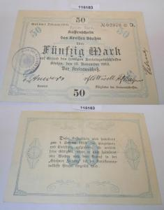 50 Mark Banknote Notgeld Stadt Stuhm 13.November 1918 (115183)