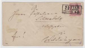 93951 seltener Ganzsachen Brief 1 Groschen Brustschild 1873