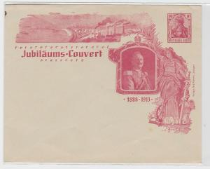 93708 seltenes Ganzsachen Jubiläums Couvert 25Jähr. Regierungsjubiläum 1888-1913