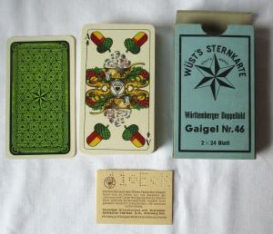 Wüst's Sternkarte Gaigel Nr. 46 Altenburg Württemberger Doppelbild 1940 (125374)
