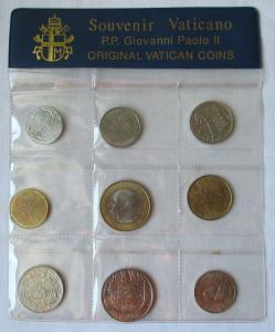 KMS Kursmünzensatz Vatikan Souvenir Vaticano Papst Giovanni Paolo II. (122175)