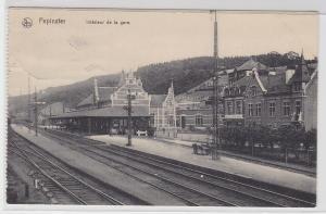 93811 Feldpost Ak Pepinster Belgien Bahnhofsansicht 1915