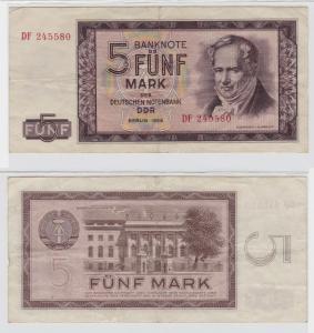 5 Mark Banknote DDR Deutsche Notenbank 1964 (133452)