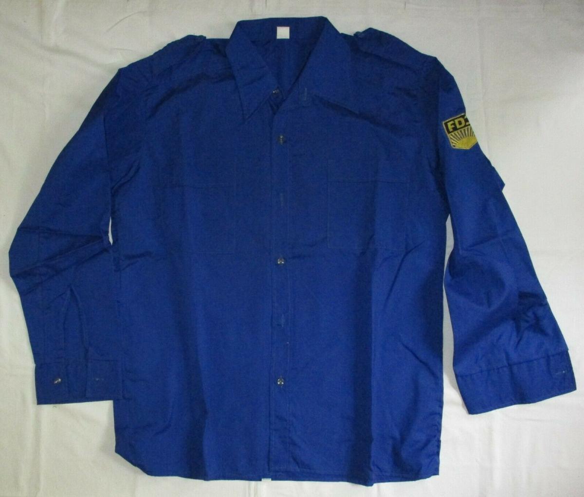 DDR FDJ Freie Deutsche Jugend Bluse Hemd Größe 41 KULT (126176) 0
