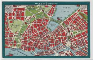 94293 Stadtplan Ak Hamburg Innenstadtansicht mit Alster um 1930