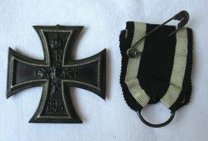 Seltenes Eisernes Kreuz 2.Klasse 1914 mit Band 1.Weltkrieg (117029)
