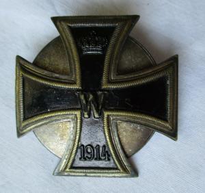 Seltenes gewölbtes Eisernes Kreuz 1.Klasse 1914 Schraubscheibe 1.WK (117532)