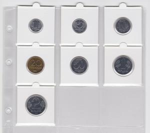 DDR Kursmünzensatz 1984 1 Pfennig -2 Mark KMS ST (101400)