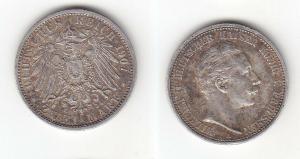 2 Mark Silber Münze Preussen Kaiser Wilhelm II 1907 A Jäger 102 (112729)
