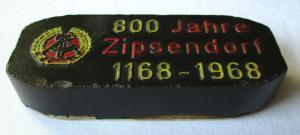 DDR Sammler Brikett 800 Jahre Zipsendorf 1168 - 1968, Kulturhalle (100275)