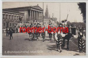 81698 Foto Ak II.Bundesturnfest Wien 1926 Festumzug