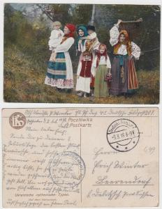 35473 Feldpost Ak Ukrainische Typen Etappen Pferdedepot Nr.45, 1918