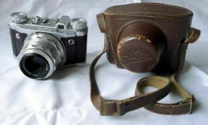 Kamera Altix mit Tempor-Verschluss und Tessar-Objektiv, Carl Zeiss Jena, 2.8/50