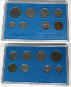 Kompletter DDR Kursmünzensatz (KMS) mit 5 Mark 1981 Stgl. in OVP (101866)