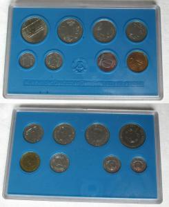 Kompletter DDR Kursmünzensatz (KMS) mit 5 Mark 1982 Stgl. in OVP (103245)